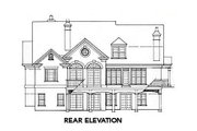 Traditional Style House Plan - 4 Beds 3.5 Baths 3342 Sq/Ft Plan #429-3 Exterior - Rear Elevation