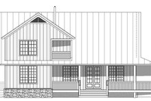 Cabin Exterior - Rear Elevation Plan #932-49