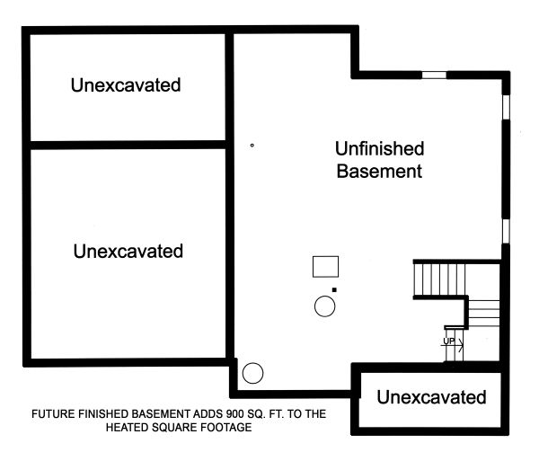 Traditional Floor Plan - Lower Floor Plan Plan #46-890