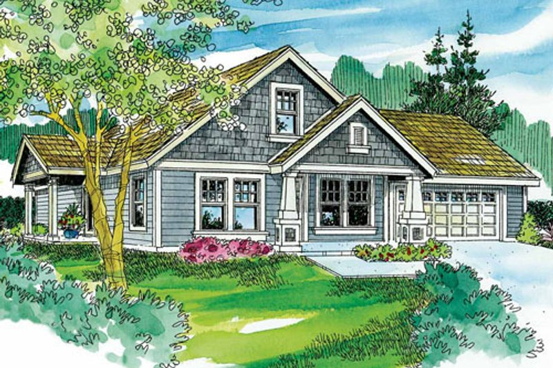 Craftsman Exterior - Front Elevation Plan #124-746