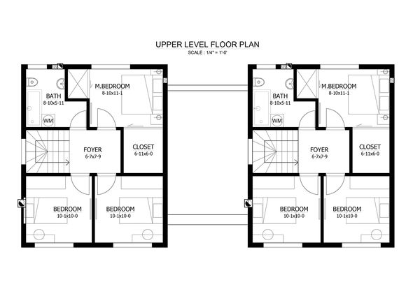 Contemporary Floor Plan - Upper Floor Plan #538-15