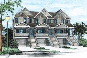 Architectural House Design - Craftsman Exterior - Front Elevation Plan #20-411