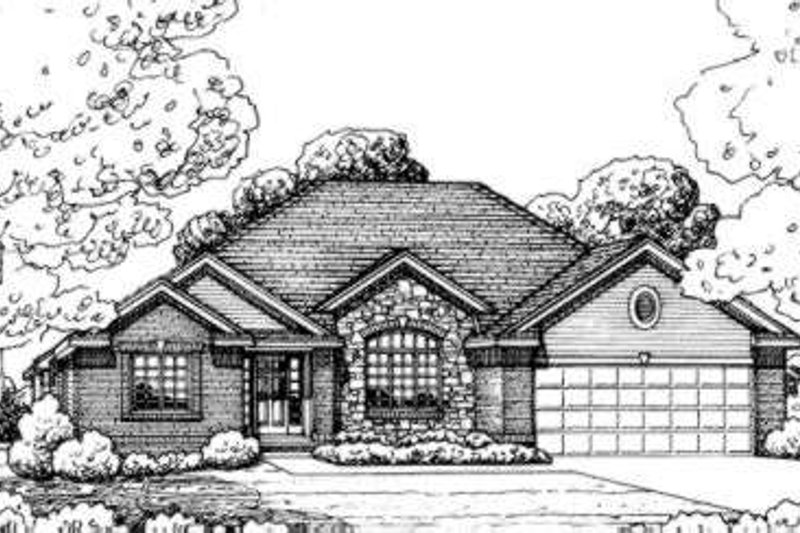 Traditional Exterior - Front Elevation Plan #20-1651