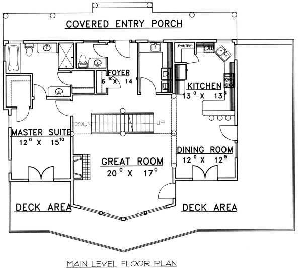 Bungalow Floor Plan - Main Floor Plan Plan #117-580