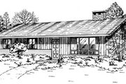 Ranch Style House Plan - 3 Beds 1.5 Baths 1196 Sq/Ft Plan #47-522