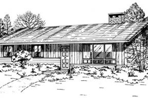 Ranch Exterior - Front Elevation Plan #47-522