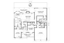 Craftsman Floor Plan - Main Floor Plan Plan #17-1167