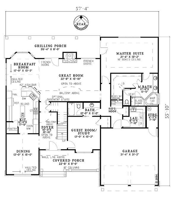 House Plan Design - Craftsman Floor Plan - Main Floor Plan #17-1167