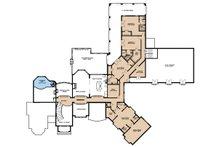 Mediterranean Floor Plan - Upper Floor Plan Plan #923-41