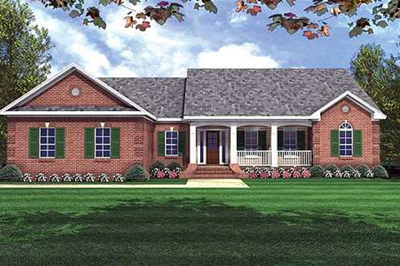 Architectural House Design - Traditional Exterior - Front Elevation Plan #21-133
