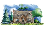 Craftsman Style House Plan - 3 Beds 3.5 Baths 2019 Sq/Ft Plan #71-129 Exterior - Front Elevation