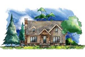 Craftsman Exterior - Front Elevation Plan #71-129