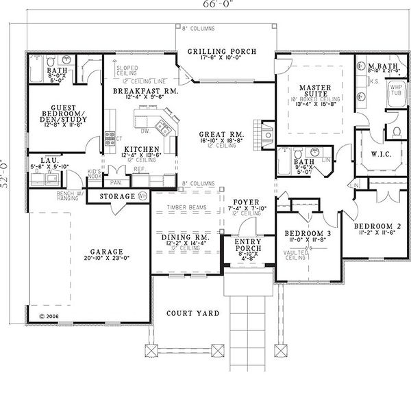 European Floor Plan - Main Floor Plan Plan #17-654