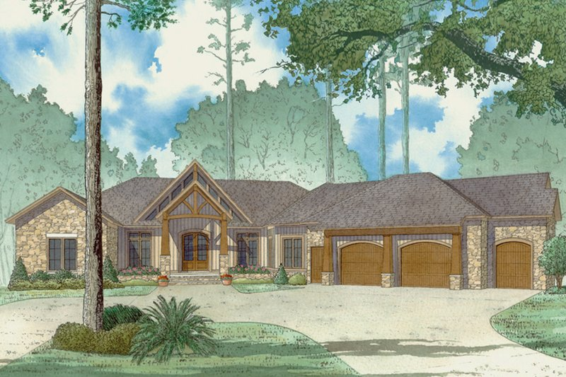Country Exterior - Front Elevation Plan #923-43