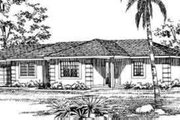 Traditional Style House Plan - 3 Beds 2 Baths 1480 Sq/Ft Plan #72-473 Exterior - Front Elevation