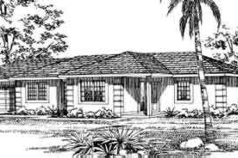 Traditional Exterior - Front Elevation Plan #72-473 - Houseplans.com