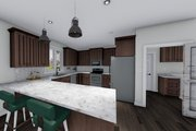 Ranch Style House Plan - 3 Beds 2 Baths 1709 Sq/Ft Plan #1060-41 Interior - Kitchen
