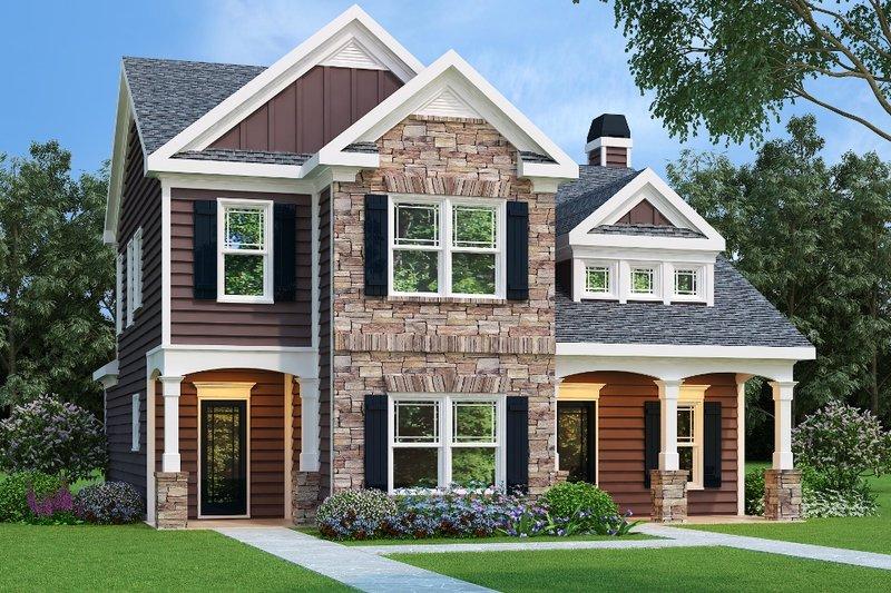 Craftsman Exterior - Front Elevation Plan #419-127