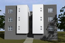 Dream House Plan - Modern Exterior - Rear Elevation Plan #535-12
