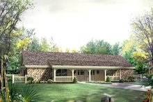 Dream House Plan - Country Exterior - Front Elevation Plan #57-682