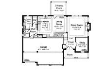 Traditional Floor Plan - Main Floor Plan Plan #46-877