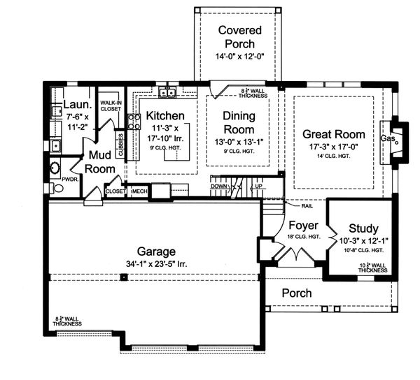 Traditional Floor Plan - Main Floor Plan Plan #46-877