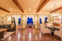 Architectural House Design - Mediterranean Interior - Family Room Plan #484-8