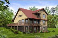 Country Exterior - Rear Elevation Plan #932-9