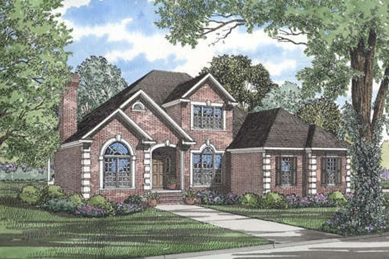 Architectural House Design - European Exterior - Front Elevation Plan #17-284