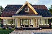 Craftsman Style House Plan - 3 Beds 2.5 Baths 2793 Sq/Ft Plan #51-1173 Exterior - Rear Elevation