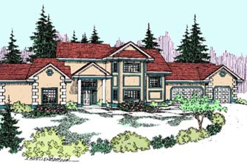 Traditional Exterior - Front Elevation Plan #60-560 - Houseplans.com