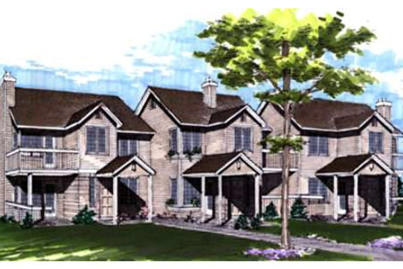 Traditional Style House Plan - 1 Beds 2 Baths 4620 Sq/Ft Plan #320-331 Exterior - Front Elevation