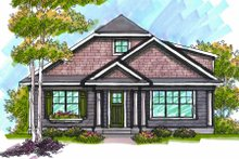 Dream House Plan - Bungalow Exterior - Front Elevation Plan #70-967
