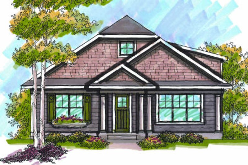 Bungalow Exterior - Front Elevation Plan #70-967