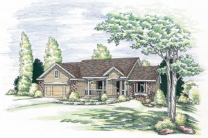 Traditional Exterior - Front Elevation Plan #20-619