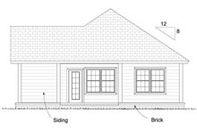 Cottage Exterior - Rear Elevation Plan #513-2084