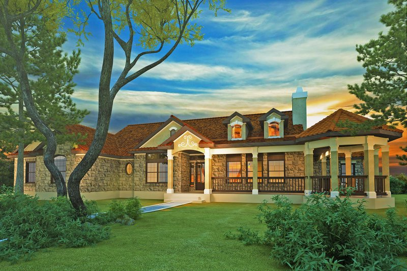 Dream House Plan - Country Exterior - Front Elevation Plan #80-119