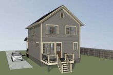 Architectural House Design - Craftsman Exterior - Rear Elevation Plan #79-313