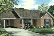 Traditional Style House Plan - 3 Beds 1 Baths 1021 Sq/Ft Plan #17-2288 Exterior - Front Elevation