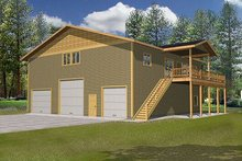 Dream House Plan - Traditional Exterior - Front Elevation Plan #117-538