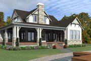 Country Style House Plan - 4 Beds 3 Baths 2453 Sq/Ft Plan #63-427 Exterior - Rear Elevation