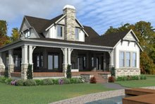 Country Exterior - Rear Elevation Plan #63-427