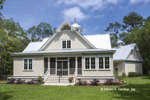 Dream House Plan - Country Exterior - Rear Elevation Plan #929-807