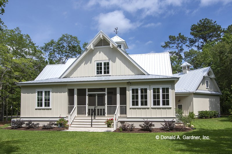 Architectural House Design - Country Exterior - Rear Elevation Plan #929-807