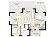Modern Style House Plan - 2 Beds 1 Baths 1000 Sq/Ft Plan #924-10