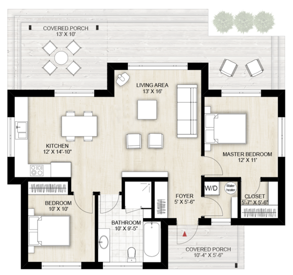 Modern Floor Plan - Main Floor Plan Plan #924-10
