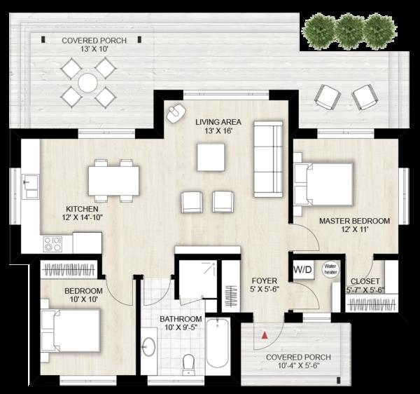 Modern Floor Plan - Main Floor Plan #924-10