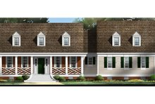 Colonial Exterior - Front Elevation Plan #119-209