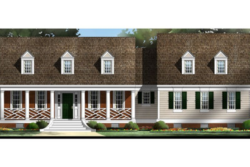Colonial Style House Plan - 3 Beds 2.5 Baths 1816 Sq/Ft Plan #119-209 Exterior - Front Elevation