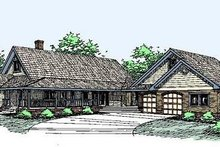 Home Plan Design - Traditional Exterior - Front Elevation Plan #60-290